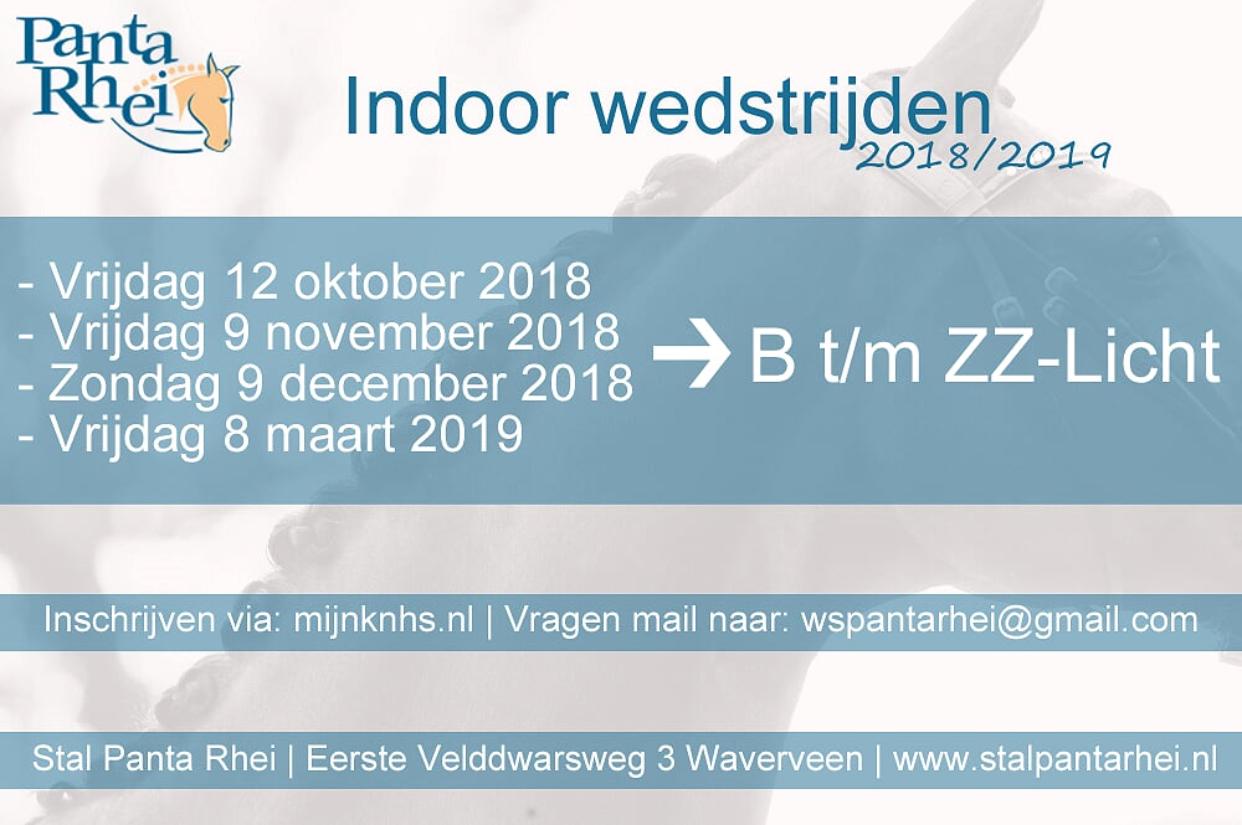 Indoor wedstrijden 2018/2019