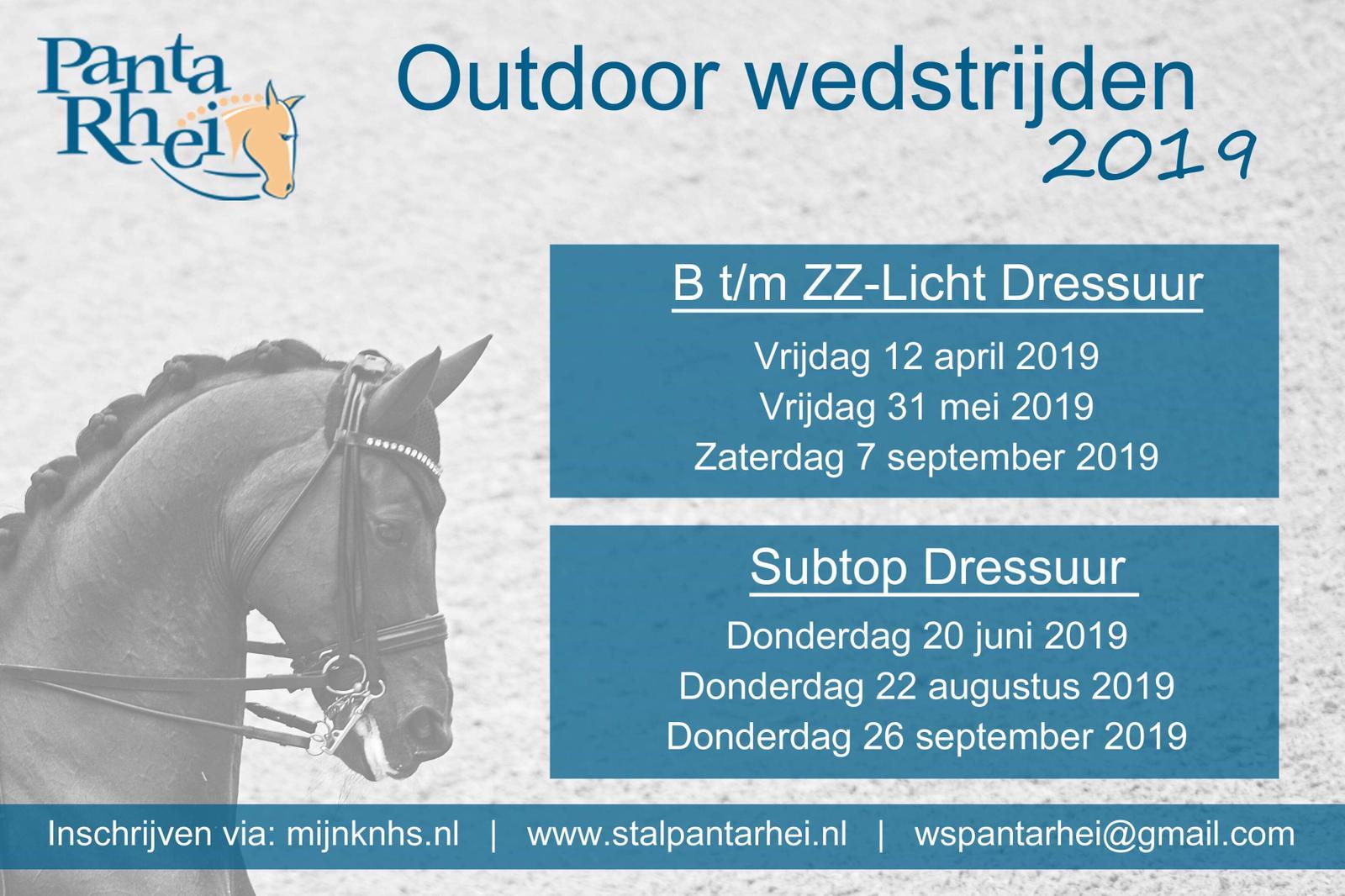Outdoorwedstrijden Panta Rhei 2019