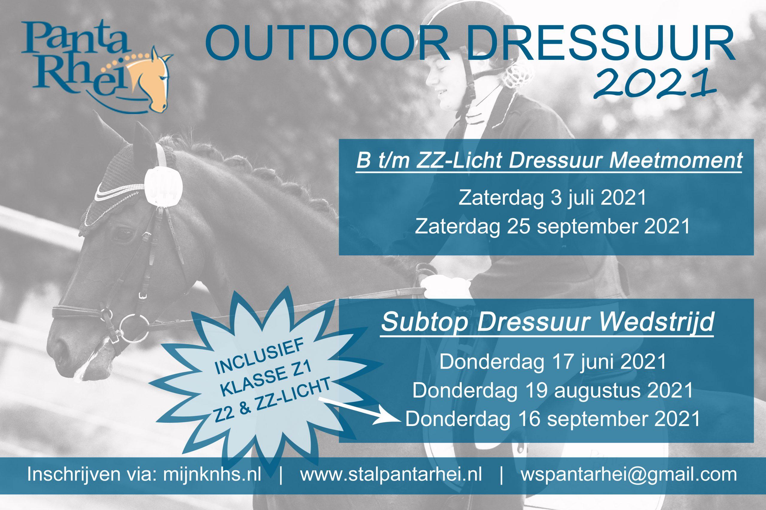 Startlijst Dressuurwedstrijd 25 september